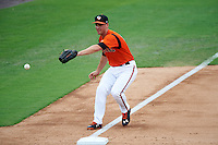 Bowie Baysox third baseman Drew Dosch (11) during the first game of a doubleheader against the Akron RubberDucks on June 5, 2016 at Prince George's Stadium in Bowie, Maryland.  Bowie defeated Akron 6-0.  (Mike Janes/Four Seam Images)