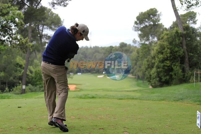 Thomas Aiken (RSA) in action on the 14th tee during Day 3 of the Open de Espana at Real Club De Golf El Prat, Terrasa, Barcelona, 7th May 2011. (Photo Eoin Clarke/Golffile 2011)