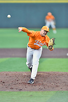 Tennessee Volunteers starting pitcher Zach Linginfelter (25) delivers a pitch during a game against the Appalachian State Mountaineers at Lindsey Nelson Stadium on February 16, 2019 in Knoxville, Tennessee. The Volunteers defeated Mountaineers 2-0. (Tony Farlow/Four Seam Images)