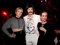 """LOS ANGELES - OCTOBER 26: (L-R) Cody Fern, Evan Peters, and Sarah Paulson attend the red carpet event to celebrate 100 episodes of FX's """"American Horror Story"""" at Hollywood Forever Cemetery on October 26, 2019 in Los Angeles, California. (Photo by John Salangsang/FX/PictureGroup)"""