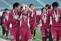 Shoshi team group,.JANUARY 7, 2012 - Football / Soccer :.Shoshi players cry after the 90th All Japan High School Soccer Tournament semifinal match between Shoshi 1-6 Yokkaichi Chuo Kogyo at National Stadium in Tokyo, Japan. (Photo by Hiroyuki Sato/AFLO)