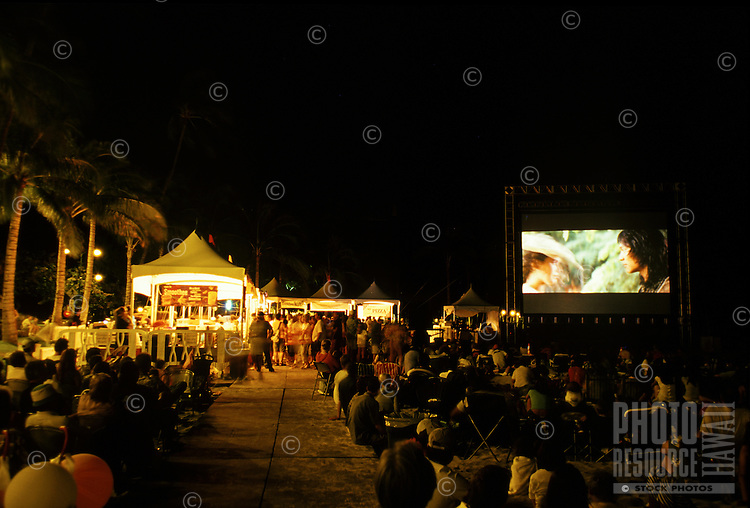 "Movie at """"Sunset at the beach""""  Waikiki"