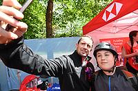 Picture by Simon Wilkinson/SWpix.com 13/05/2018 - Cycling HSBC UK Let's Ride Cardiff - Shane Williams,Lewis Oliva, Julie Harrington, Warren Lewis