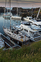 Royaume-Uni, îles Anglo-Normandes, île de Guernesey, Vale: Beaucette Marina// United Kingdom, Channel Islands, Guernsey island, Vale: Beaucette Marina