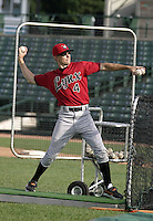 August 11, 2004:  Coach Matt Martin of the Ottawa Lynx, Triple-A International League affiliate of the Baltimore Orioles, during a game at Frontier Field in Rochester, NY.  Photo by:  Mike Janes/Four Seam Images
