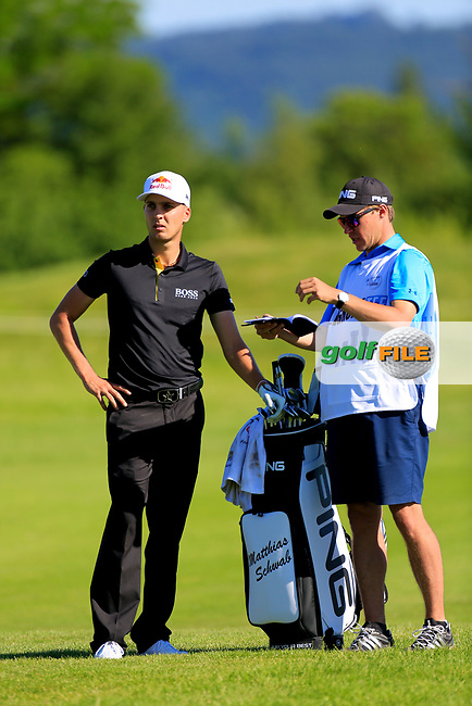 Matthias Schwab (AUT) during the first round of the Lyoness Open powered by Organic+ played at Diamond Country Club, Atzenbrugg, Austria. 8-11 June 2017.<br /> 08/06/2017.<br /> Picture: Golffile   Phil Inglis<br /> <br /> <br /> All photo usage must carry mandatory copyright credit (&copy; Golffile   Phil Inglis)