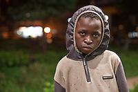 Iaasac Mutinda, a 13 year old street boy living in Westlands, nairobi