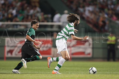21 JUL 2010:  Celtic's Georgios Samaras (9). Celtic defeated  Sporting Clube de Portugal 6-5 on penalty kicks in an international friendly match, part of the Fenway Football Challenge, at Fenway Park in Boston, Massachusetts on July 21, 2010.