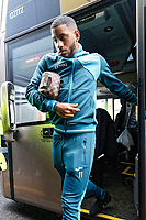 Luciano Narsingh of Swansea City arrives prior to the game during the Premier League match between Watford and Swansea City at the Vicarage Road, Watford, England, UK. Saturday 30 December 2017