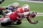 October 31, 2009: Wisconsin Badgers running back John Clay (32) dives toward the goal line during an NCAA football game against the Purdue Boilermakers at Camp Randall Stadium on October 31, 2009 in Madison, Wisconsin. The Badgers won 37-0. (Photo by David Stluka)