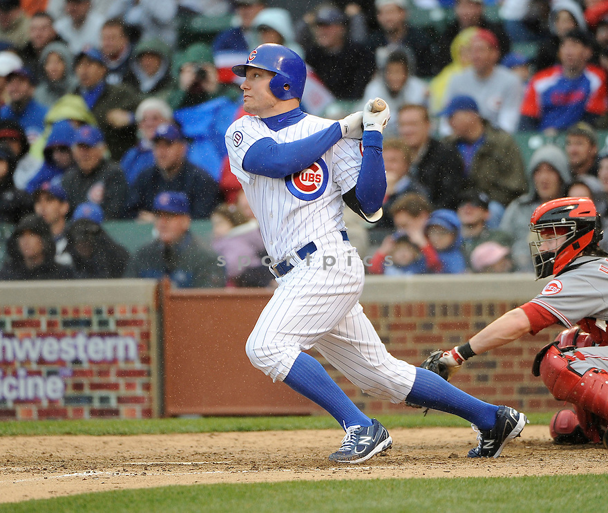 JEFF BAKER, of the Chicago Cubs, in action during the Cubs game against the Cincinnati Reds, on May 7, 2011 at Wrigley Field in Chicago, IL.  The Cubs beat the Reds 3-2.