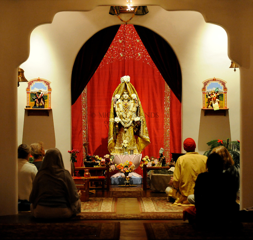 Evening Aarati at the Haidakhandi Universal Ashram near Crestone, CO. Michael Brands for The New York Times.