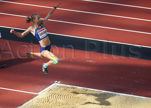 August 6th 2017, London Stadium, East London, England; IAAF World Championships, Day 3; Alina Shukh of Ukraine competing in the Women's Long Jump Heptathlon