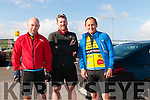Jerry Hayes and Ollie Kerwin (from Killarney) with Liam Dellahanty (from Waterville) at the Dingle Adventure Race on Saturday morning.