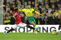 Emi Buendia of Norwich City is challenged by Fred of Manchester United during the Premier League match between Norwich City and Manchester United at Carrow Road on October 27th 2019 in Norwich, England. (Photo by Matt Bradshaw/phcimages.com)<br /> Foto PHC/Insidefoto <br /> ITALY ONLY
