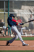 Cleveland Indians right fielder Will Benson (7) during a Minor League Spring Training game against the San Francisco Giants at the San Francisco Giants Training Complex on March 14, 2018 in Scottsdale, Arizona. (Zachary Lucy/Four Seam Images)