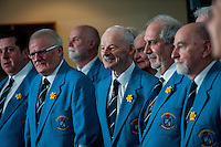 Friday  25 March 2016<br /> Pictured: Swansea Male Choir<br /> Re: Pen y Bryn Special school  launch their Swansea City FC book at the Liberty Stadium, Swansea, Wales, UK