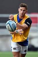 Max Green of Bath Rugby in action during the pre-match warm-up. Gallagher Premiership match, between Bristol Bears and Bath Rugby on August 31, 2018 at Ashton Gate Stadium in Bristol, England. Photo by: Patrick Khachfe / Onside Images