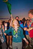 A girl from Sweden is celebrating during the IST Opening ceremony