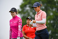 Azahara Munoz (ESP) and Brittany Altomare (USA) head down 2 during round 4 of the KPMG Women's PGA Championship, Hazeltine National, Chaska, Minnesota, USA. 6/23/2019.<br /> Picture: Golffile | Ken Murray<br /> <br /> <br /> All photo usage must carry mandatory copyright credit (© Golffile | Ken Murray)