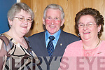 ANNUAL: Kitty and Frank Falvey (Ballyheigue) and Patricia Murphy at the Annual Pioneers Social at Ballyroe Heights Hotel, Tralee, on Saturday night..