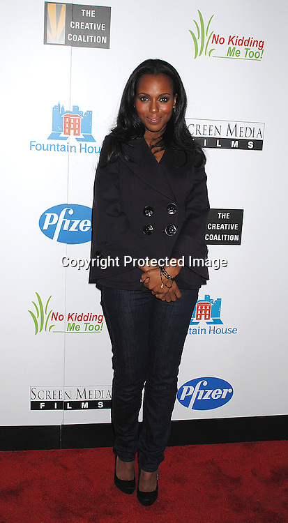 """Kerry Washington..posing for photographers at The New York Premiere of ..""""Canvas"""" starring Marcia Gay Harden and Joe Pantoliano..on October 9, 2007 at The French Institute. ....photo by Robin Platzer, Twin Images....212-935-0770"""