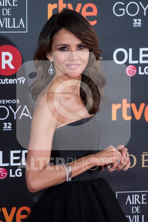 Goya Toledo attends red carpet of Goya Cinema Awards 2018 at Madrid Marriott Auditorium in Madrid , Spain. February 03, 2018. (ALTERPHOTOS/Borja B.Hojas)