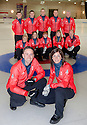 The mens and womens Team GB Winter Olympic Curling Teams 2014 fronted by skips David Murdoch and Eve Muirhead.