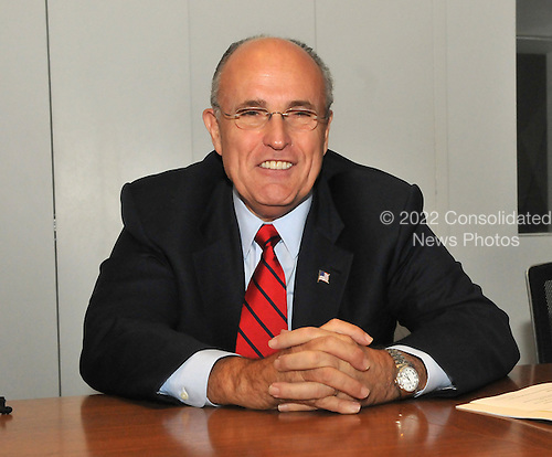 Denver, CO - August 26, 2008 -- Former New York City Mayor Rudolph Giuliani is interviewed in Denver, Colorado on Tuesday, August 26, 2008..Credit: Ron Sachs - CNP.(RESTRICTION: NO New York or New Jersey Newspapers or newspapers within a 75 mile radius of New York City)