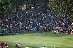 The crowds gather around the 6th green during the final round of Single Matches at The 37th Ryder cup from Valhalla Golf Club in Louisville, Kentucky....Photo: Fran Caffrey/www.golffile.ie.