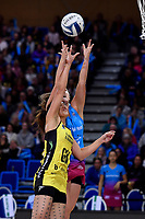 Pulse&rsquo; Sulu Fitzpatrick and Steel's Jennifer O&rsquo;Connell in action during the ANZ Premiership - Pulse v Steel at Te Rauparaha Arena, Porirua, New Zealand on Wednesday 30 May 2018.<br /> Photo by Masanori Udagawa. <br /> www.photowellington.photoshelter.com