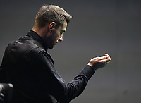 31st October 2019, Yushan, Jiangxi Province, China;  Mark Selby of England chalks his cue during the round of 16 match against his compatriot Stuart Bingham at 2019 Snooker World Open in Yushan