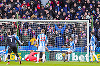Crystal Palace go 1-0 up during the EPL - Premier League match between Huddersfield Town and Crystal Palace at the John Smith's Stadium, Huddersfield, England on 17 March 2018. Photo by Stephen Buckley / PRiME Media Images.