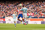 Atletico de Madrid's Gabi and Celta de Vigo's P. Hernandez during La Liga Match at Vicente Calderon Stadium in Madrid. May 14, 2016. (ALTERPHOTOS/BorjaB.Hojas)
