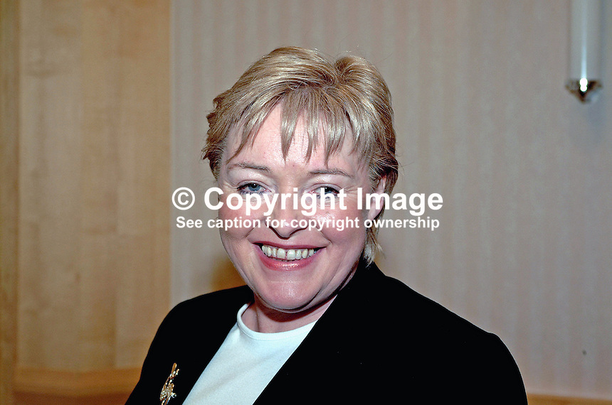 Marietta Farrell, candidate, SDLP, North Down, 2001, UK General Election. Ref: 2001051834<br />