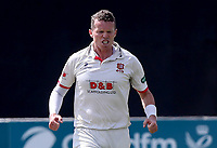 Peter Siddle of Essex celebrates taking the wicket of Liam Banks during Essex CCC vs Warwickshire CCC, Specsavers County Championship Division 1 Cricket at The Cloudfm County Ground on 16th July 2019