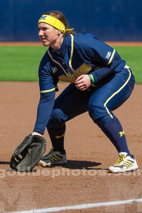 The University of Michigan softball team defeats Ohio State, 1-0, at Alumni Field in Ann Arbor on April 5, 2014.