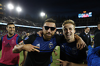 STANFORD, CA - JUNE 29: Guram Kashia #37, Jackson Yueill #14 during a Major League Soccer (MLS) match between the San Jose Earthquakes and the LA Galaxy on June 29, 2019 at Stanford Stadium in Stanford, California.
