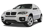 Low aggressive front three quarter view of a 2008 BMW X6 Sports Activity Vehicle.