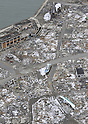 February 26, 2012, Fukushima, Japan - Fishing boats and rubble are left untouched at the tsunami-stricken town of Namie, Fukushima Prefecture, pictured here from a Mainichi helicopter on Feb. 26, 2012.