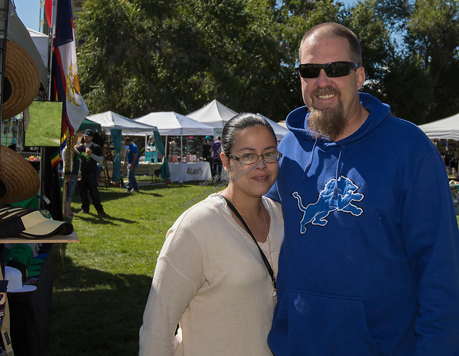 Melissa Wagner and Larry Rich during the inaugural Bud and Brew Music Festival in Wingfield Park in downtown Reno on Saturday, Sept. 23, 2017.