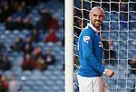 Kris Boyd angry after missing with a header