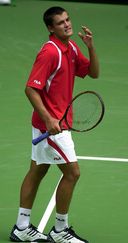 Australian Open Tennis 2003.20/01/2003.Mikhail Youzhny  v Andy Roddick .Mikhail Youzhny