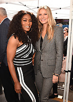 HOLLYWOOD, CALIFORNIA - DECEMBER 4: (L-R) Angela Bassett and Gwyneth Paltrow attend a ceremony honoring Ryan Murphy with a star on The Hollywood Walk of Fame on December 4, 2018 in Hollywood, California. (Photo by Frank Micelotta/Fox/PictureGroup)