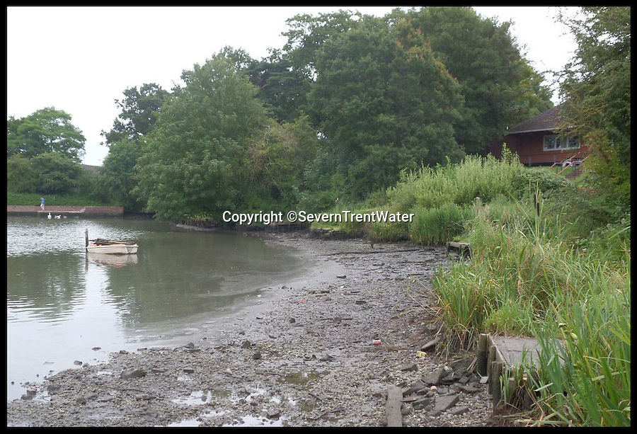 BNPS.co.uk (01202 558833)<br /> Pic: SevernTrentWater/BNPS<br /> <br /> ***Please Use Full Byline***<br /> <br /> <br /> The drained pool at Lodge Park.<br /> <br /> <br /> Thousands of pounds worth of fish have been lost after a vandal drained a lake for a Harley Davidson motorbike that was rumoured to have been dumped in it.<br /> <br /> More than one million gallons of freshwater along with hundreds of prized fish flowed out of the private fishery after the yob opened a sluice gate in his foolhardy search for the mythical machine.<br /> <br /> The five acre Lodge Park lake has lost around a quarter of its volume of water and a level of up to 4ft in some parts has drained off, flowing into the River Arrow in Worcestershire.
