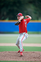 GCL Phillies West relief pitcher Alex Garcia (37) delivers a pitch during a game against the GCL Blue Jays on August 7, 2018 at Bobby Mattick Complex in Dunedin, Florida.  GCL Blue Jays defeated GCL Phillies West 11-5.  (Mike Janes/Four Seam Images)