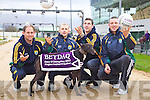 Senior Kerry Footballers and Hurlers Liam Boyle, Barry John Keane, Shane Brick and Kieran Donaghy at the launch of the Betdaq Kerry GAA night of champions  in aid of Kerry GAA at the Kingdom Greyhound Stadium in Tralee Co Kerry on the 30th June 2012.