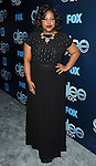 """Amber Riley arriving at the"""" GLEE 100th Episode Celebration"""" held at Chateau Marmont West Hollywood, Ca. March 18, 2014."""