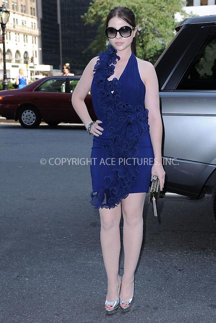 WWW.ACEPIXS.COM . . . . . .September 13, 2011 New York City....Michelle Trachtenberg attends the Marchesa Fashion Show at the Plaza Hotel on September 13, 2011 in New York City....Please byline: KRISTIN CALLAHAN - ACEPIXS.COM.. . . . . . ..Ace Pictures, Inc: ..tel: (212) 243 8787 or (646) 769 0430..e-mail: info@acepixs.com..web: http://www.acepixs.com .