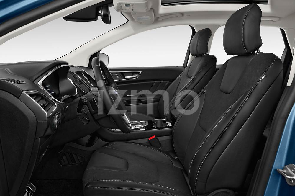 Front seat view of 2017 Ford Edge Sport 5 Door SUV front seat car photos